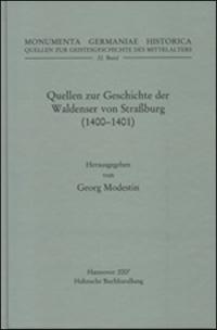 Quellen zur Geschichte der Waldenser von Straßburg (1400-1401)