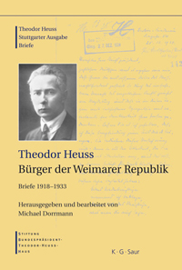 Theodor Heuss. Brger der Weimarer Republik