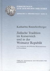 Jüdische Tradition im Kaiserreich und in der Weimarer Republik