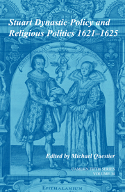 Stuart Dynastic Policy and Religious Politics, 1621-1625