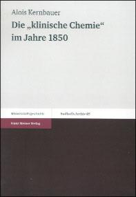 """Die """"klinische Chemie"""" im Jahre 1850"""