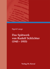 Das Spätwerk von Rudolf Schlichter (1945-1955)