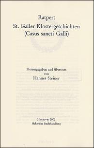 Ratpert St. Galler Klostergeschichten (Casus sancti Galli)