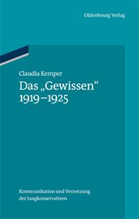 """Das """"Gewissen"""" 1919-1925"""
