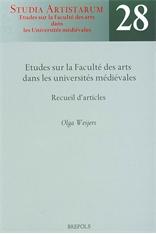 Études sur la Faculté des arts dans les universités médiévales