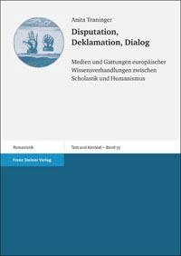Disputation, Deklamation, Dialog