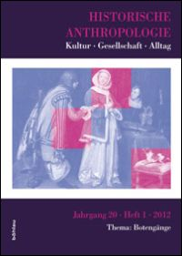 Historische Anthropologie. Jahrgang 20 (2012), Heft 1