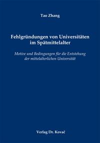 Fehlgründungen von Universitäten im Spätmittelalter