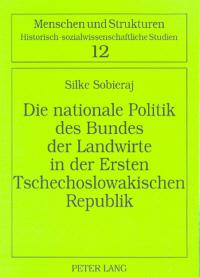 Die nationale Politik des Bundes der Landwirte in der Ersten Tschechoslowakischen Republik