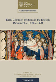 Early Common Petitions in the English Parliament, c. 1290-1420