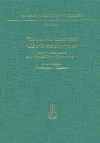 Thomas von Cantimpré ›Liber de naturis rerum‹