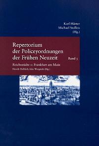 Repertorium der Policeyordnungen der Frühen Neuzeit