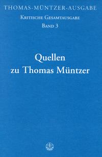 Quellen zu Thomas Müntzer