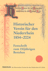Historischer Verein für den Niederrhein 1854-2004