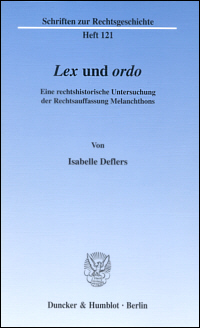Lex und ordo