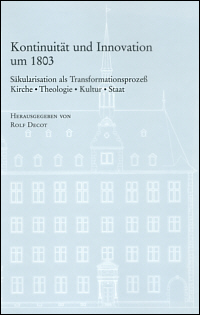 Kontinuität und Innovation um 1803