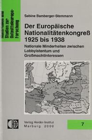 Der Europäische Nationalitätenkongress 1925-1938