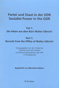 Partei und Staat in der DDR / Socialist Power in the GDR