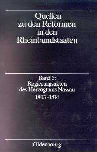 Regierungsakten des Herzogtums Nassau 1803-1814